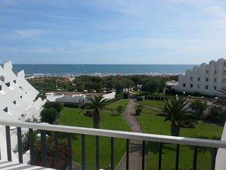 T2 Exceptionnelle vue mer (1min à pied de l'eau), terrasse, parking, jardin, La Grande Motte