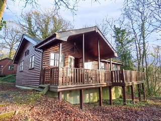 ACORN LODGE, detached log cabin, single-storey, sauna, whirlpool bath, veranda, near St Clears, Ref 930857