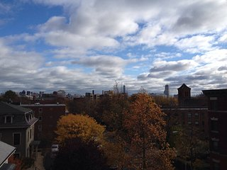 Skylines, sunny, steps to Central! Guest room in apartment between MIT + Harvard
