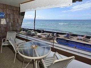 Beautiful oceanfront 1 bed 1 bath, second floor condo