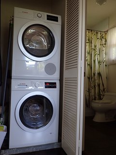New Bosch washer and dryer in unit