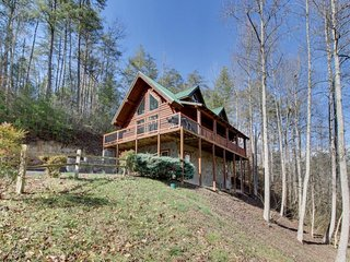 Spacious & luxurious cabin w/ Jacuzzi, private hot tub, seasonal pool access!, Sevierville