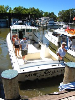 Charter fishing is another way to go boating.
