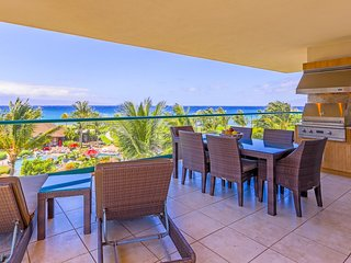 Maui Resort Rentals: Honua Kai Konea 402 – Direct Ocean Front 3BR w/ B.B.Q on Wr
