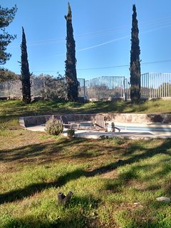 Sit and relax on the 1 acre property