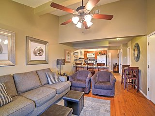 When you're not out and about, curl up on the plush couch and relax in the inviting living room.
