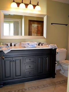 Master bathroom. Bathtub, shower, double sink vanity