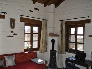 Ferienhaus mit Panaromablick über das Dorf Nikiti bis zum Meer