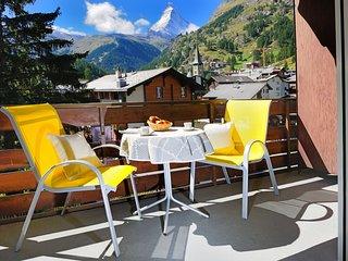Ferienwohnung an toller Lage - Super Aussicht auf das Matterhorn