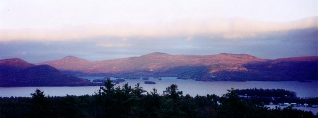 Northern views of 'The Narrows' of Lake George.