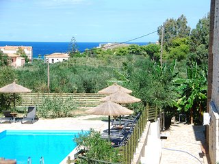 """ALEGRIA VILLAS"" Maisonettes with Sh.S.Pool by the Beach & Sea View"