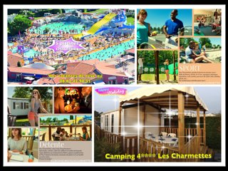 Mobile home neuf clim, terrasse couverte, camping 4* les Charmettes a La Palmyre