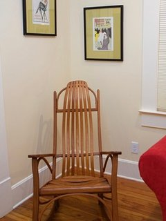 Bentwood rocking chair: as comfortable as it is graceful in its lines.