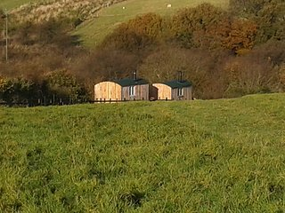 Shepherds Huts at Meadowbeck (1 of 2 Hide & Sea)