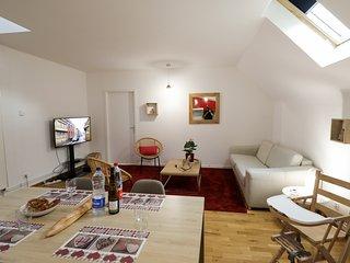 HANSI 55m2 T2 canapé lit au salon et chambre