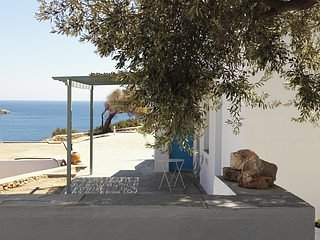 View from the private terrace under the shade of the olive tree