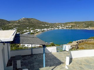 "View of the village of Agios Ioannis and the ""shortened"""