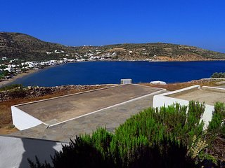 View of the village of Agios Ioannis and the bay, 150 meters