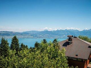 Chalet mit Blick auf den Genfer See