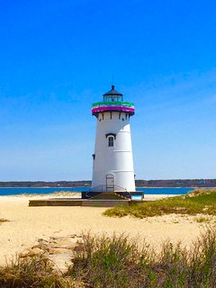 Edgartown Light, a great walk or bike ride from house
