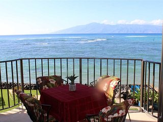 Sea Yourself Here ~ Corner Ocean Front Fully Equipped ~ Kahana Reef #222