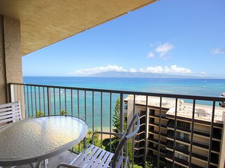 This ocean front property offers air conditioned comfort Royal Kahana #1202