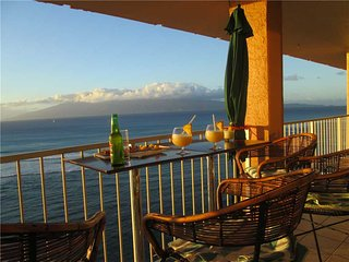 This ocean front property offers air conditioned comfort  Royal Kahana #1211