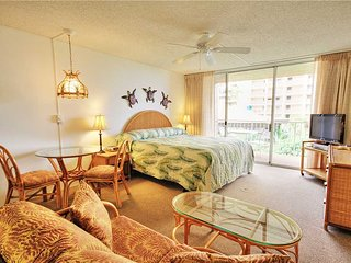 This ocean front property offers air conditioned comfort  Royal Kahana #319