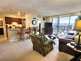 This ocean front property offers air conditioned comfort  Royal Kahana #807
