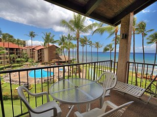AMAZING Corner Ocean Front View overlooking Pool/BBQ area ~ Papakea #G408