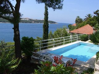 Dubrovnik seafront villa with summer kitchen direct sea access and boat mooring