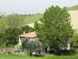 Landelijk gelegen zeer ruime vakantiewoning, 6 km van de Adriatische zee.