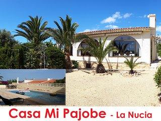 Casa Mi Pajobe La Nucia : kindvriendelijke alleenstaande villa met privé-zwembad