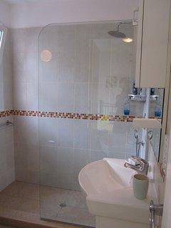 bathroom with Waterfall power shower