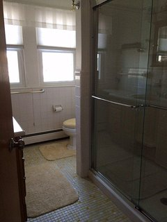 3rd floor full bathroom with large stand up shower