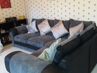 Comfortable corner sofa.