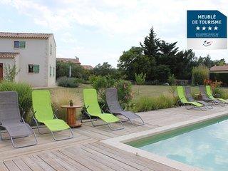 Le mas des Beradis - 2 Gites de charme de 4 personnes avec piscine  - Uzes