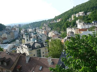 Wow! What a wonderful view! Big kitchen. For 4 people, Karlovy Vary