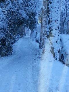 Une rue derrière chez nous