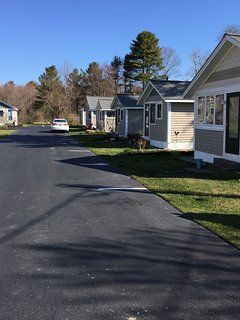 Private, dead end street with 2 free parking spaces, new picnic table in nicely landscaped yard.