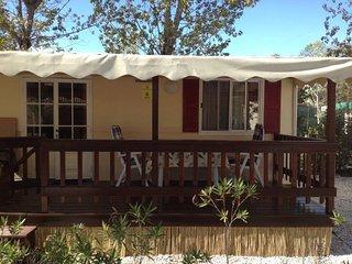 Stacaravan 7.te huur op Camping Paradiso in Viareggio aan Zee, Toscane, Italie