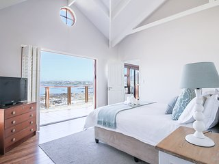 Master bedroom with breathtaking sea and mountain views