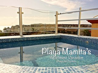 Playa Mamita's Apartment only 30mt front to Beach, Playa del Carmen