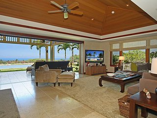 Luxurious Four Seasons Hualalai Villa with stunning ocean and golf course views, Kailua-Kona
