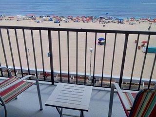 Directly on boardwalk & beach.