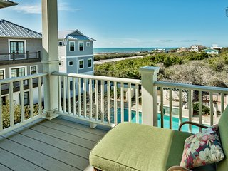Gorgeous poolside home in Inlet Beach, short walk to beach, media room, Gulf views - Seaside Spotlight, Panama City Beach
