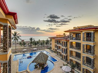 Elegant beachfront condo features shared pool and incredible ocean views!