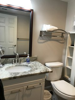Guest bath-granite counter tops