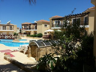 This one bedroom, ground floor apartment is available for rent in central Paphos