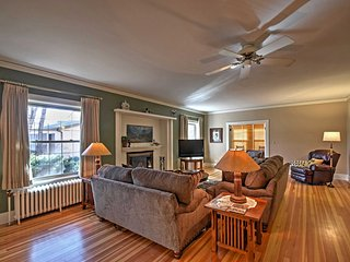 Authentic hardwood floors and plaster walls welcome you into each room.
